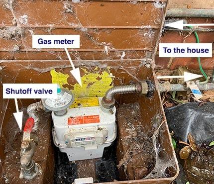 Finding home gas shut off valve
